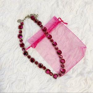 WHBM pink rhinestone necklace